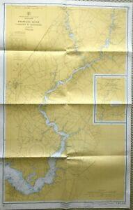 VINTAGE NAUTICAL CHART MAP MD MARYLAND CHOPTANK RIVER CAMBRIDGE to GREENSBORO