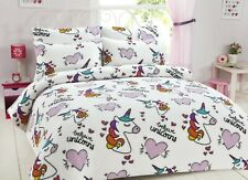 Teddy Fleece Unicorn Duvet Cover Set Kids/Boys/Girls Unicorn Fleece Bedding