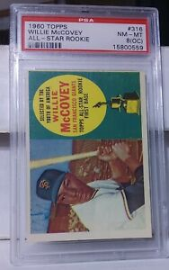 1960 Topps Willie McCovey RC Rookie PSA 8OC  San Francisco Giants