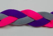Pink Purple Gray Braided Hair Band Head Under Sweaty Headband Armour Non Slip