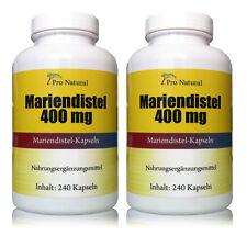 2 Packungen  Pro Natural Mariendistel 400mg ( 80% Silymarin 320mg ) 480 Kapseln