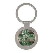 Green Circuit Board Chunky Circle Keyring PCB IT Gadget resistor capacitor BNIB