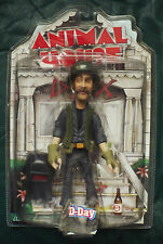 "ANIMAL HOUSE ""D-DAY""ACTION FIGURE MEZCO 2003 NEW SEALED CRACK IN PLASTIC BY HEAD"