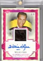 WILLIE O'REE 2019-20 Leaf Superlative Collection AUTOGRAPH LEATHER Magenta #3/8