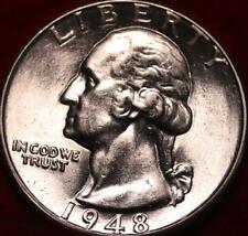 Uncirculated 1948-D Denver Mint Silver Washington Quarter
