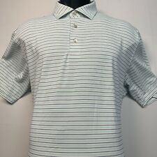 PETER MILLAR Summer Comfort Stretch Golf Polo Shirt in Stripe Size: L (Flawed)