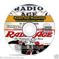 Radio Age Magazine, 63 Vintage Old Time Radio Magazine Collection PDF CD B90
