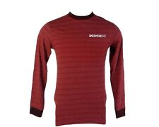 DC Shoes Men's Size XLarge Red Striped Crew Neck Long Sleeve Shirt NEW