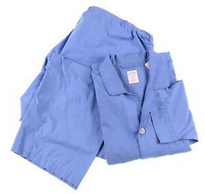 Brooks Brothers Mens Blue Graph Check 2pc Pajama Set Shirt & Pants Sz XL