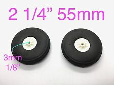 "1Pair Ultra Light Weight PU Wheels for RC Airplane 2 1/4"" x ⌀1/8"" TH006-04205"