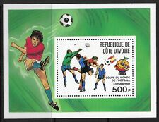 STAMPS-IVORY COAST. 1981. World Cup Football-Spain M/Sheet. SG: MS693. MNH