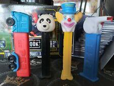 Vintage pez candy dispensers (4) clown. Panda. Whistle. Semi.