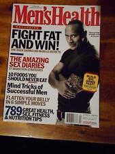 MEN'S HEALTH bodybuilding muscle magazine The Rock DWAYNE JOHNSON 4-04
