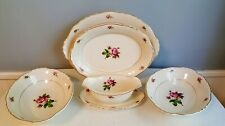 5 Serving Pieces Syracuse China Victoria Rose Federal Shape