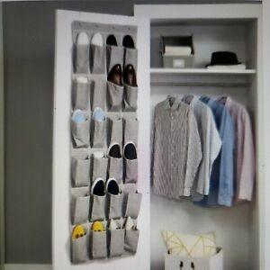 24-Pocket Over the Door Shoe Organizer Shoe Rack Storage used
