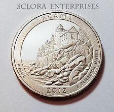 2012 S ACADIA  *90% SILVER PROOF* QUARTER   **FREE SHIPPING**