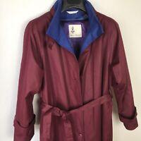 Misty Harbor Women's Removable Liner Trench Coat Burgandy Size 8 Regular
