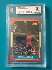 MICHAEL JORDAN 1986-87 FLEER #57 RC ROOKIE BGS 8 NM-MT W/9 PSA ----CHICAGO BULLS