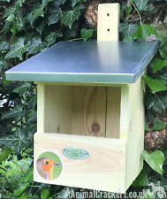 Heavy chunky wood Bird House Nest Box for Robin, Flycatcher & other garden birds