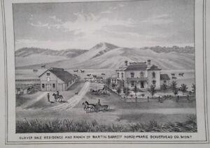 Orig 1885 Print Mt Montana Territory