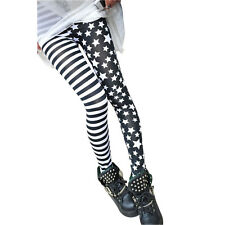 Punkjewelry fashion tatuaje leggings Stars & Stripes talla única