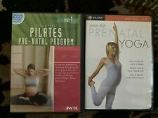 2 Prenatal Workout/Exercise Dvd's - Gaiam - Yoga and Total Mind & Body -Pilates