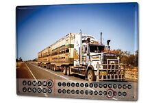 Dauer Wand Kalender Werkstatt Motiv  Road Train Australien Metall Magnet