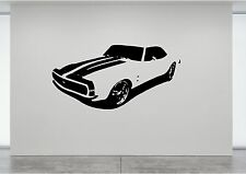 CAMARO SS MUSTANG CAR VINTAGE STYLE STICKER VINYL DECAL ART WINDOW WALL Any Room
