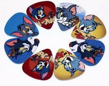 Tom and Jerry T&J Cartoon Guitar Picks Lot of 10 .71 mm Free Tracking New