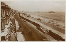 POSTCARD WORTHING LOOKING EAST, SUSSEX to SHOP ROAD, KNOWSLEY, PRESCOT, LANCS