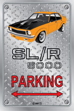 Parking Sign - Metal - Holden Torana SLR 5000 ORANGE -  ORIGINAL RIMS