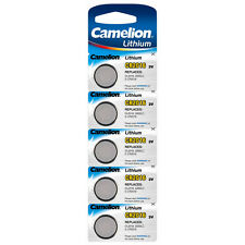 5x CR2016 Lithium Knopfzelle 3 Volt von Camelion