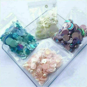 10g Sparkling Shimmer Mixed Sequins Bead Pearl Paillettes DIY Sewing  Dress Bag#