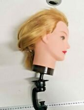 Hairdressing blonde mannequin head salon training head styling with clamp
