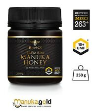 BeeNZ echter originaler authentischer Manuka Honig MGO263 mg/kg UMF™10+ 250g