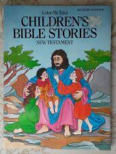 Color-Me-Tales Children's Bible Stories New Testament Coloring Book w/Bonus.