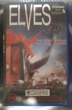 ELVES (1989) Palace Video VHS HORROR Christmas Comedy Roadshow Dan Haggerty RARE