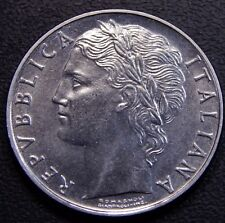 Italy 1956 (Better Date) 100 Lire UNC w/ Full Hair Nice Stainless Steel Coin!