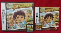 Go Diego Safari + Build & Rescue  Nintendo DS Lite 3DS 2DS Game Tested and Works