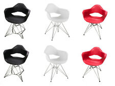 Pack 2 sillas de comedor Blancas silla diseño retro estilo nórdico modelo Steel