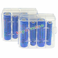 4x AA 3000mAh+ 4x AAA 1800mAh 1.2V NI-MH Rechargeable Battery +2pcs case