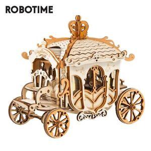 Robotime Vintage Carriage Model 3D Wooden Puzzle Toys for Chilidren Kid Adult US