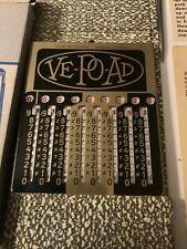 Nice Antique VE-PO-AD Adding Machine With Stylus, Case, Box & Instructions VTG