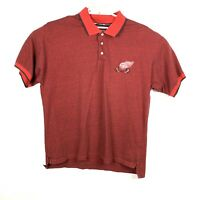 Detroit Red Wings Mens Sz XL Red  Hockey Rules Short Sleeve Polo Shirt
