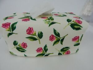 Tissue Box Cover With Circle Opening Rosebuds - Great Gift!