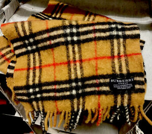 Burberry Scarf 100% Lambswool Scarf Made in Scotland Dimensions …Authentic