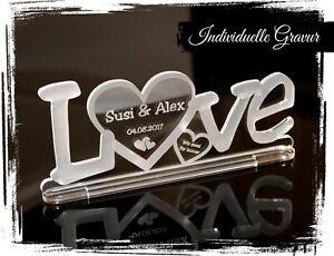 Aufsteller LOVE  mit Wunschgravur Acryl Liebe Hochzeit Valentinstag Geschenk WOW