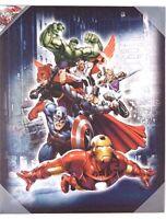 "Marvel Comics Avengers Assemble Canvas Print Wall Art Home Decor 20"" x 16"" NEW"
