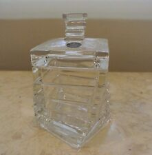 Rosenthal Germany Studio - Line Heavy lidded Lead Crystal Twisted Brick Jar