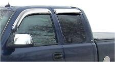 Auto Vent Shade 684044 4pc Chrome Ventvisor Deflector for Sierra & Silverado